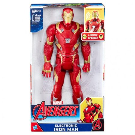 hasbro hsbc2162 12 in. marvel avengers electronic iron man figure - 4 count