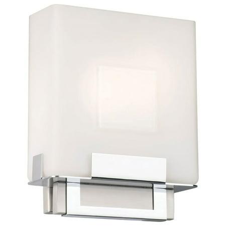 Phillips Forecast Lighting F544336E1 Square Bathroom Sconce Light, Satin (Light Satin Nickel Bathroom Lighting)