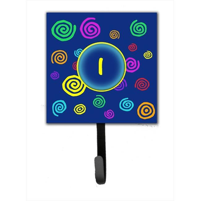 Carolines Treasures CJ1011-ISH4 Letter I Initial Monogram - Blue Swirls Leash Holder Or Key Hook - image 1 de 1