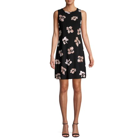 Carole Hochman Floral Jersey - Floral Jersey Shift Dress