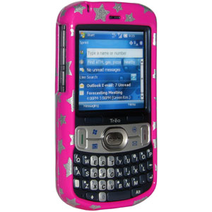 Premium Stars Pink Snap On Hard Shell Case for Treo 800w