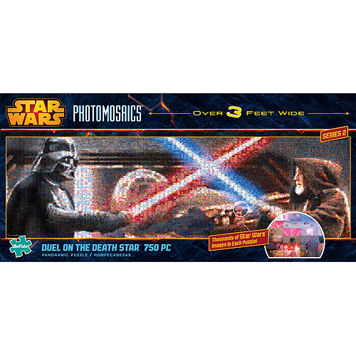 Buffalo Games Panoramic Light Sabre Duel Jigsaw Puzzle, 750 Pieces