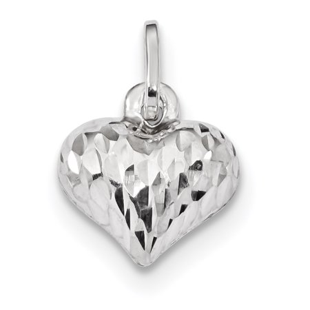 925 Sterling Silver Heart Pendant Charm Necklace Love Puffed Gifts For Women For - Ladies Puffed Heart