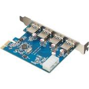 Visiontek 900544 4-Port Expansion Card - USB 3.0 - 1 x PCI (Refurbished)