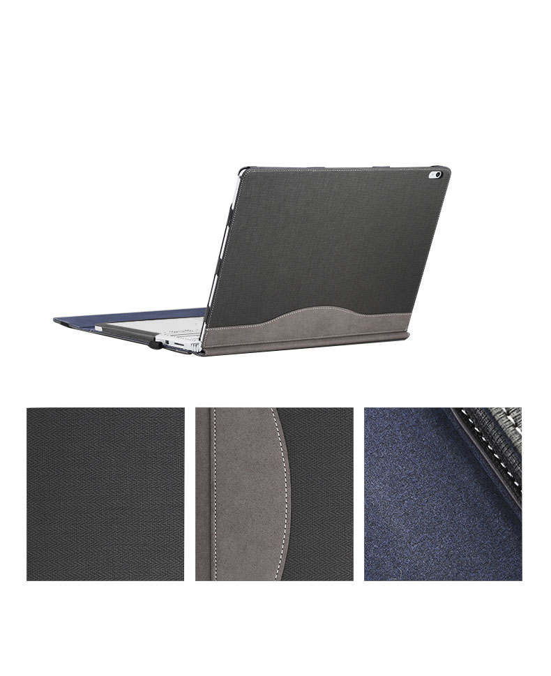 Executive Surface Book Laptop Case, Detachable Protective Flip Case Cover For 13.5 inch Microsoft Surface Book by iCarryAlls