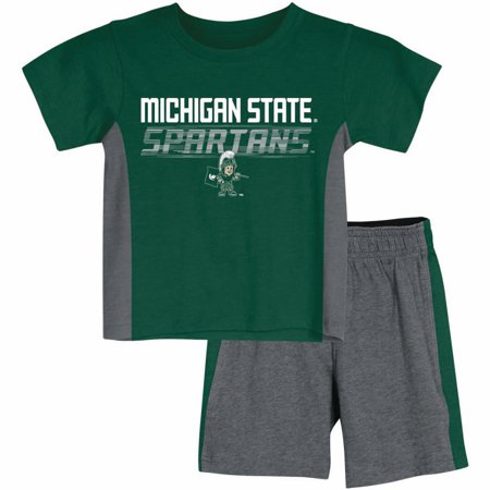Toddler Russell Athletic Green Michigan State Spartans T-Shirt & Shorts Synthetic covid 19 (Michigan State Spartans Green coronavirus)