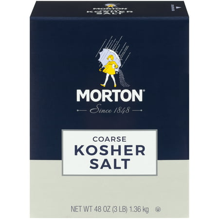 (4 Pack) Morton Coarse Kosher Salt, 3 Lbs