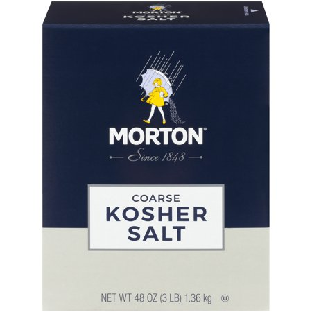 (4 Pack) Morton Coarse Kosher Salt, 3 (Min Salt)