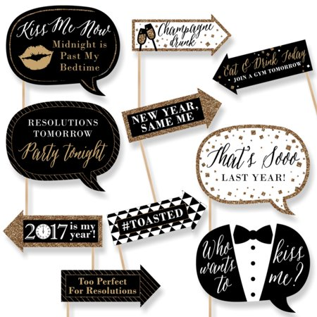 Funny New Years Eve Gold 2019 New Years Eve Photo Booth Props
