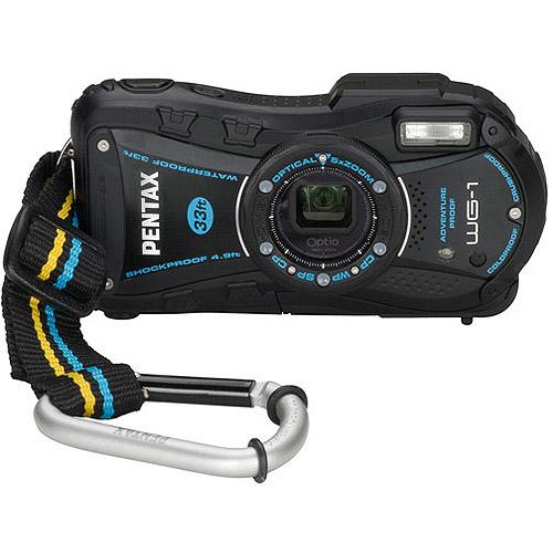 "Pentax Optio WG-1 14MP Black Digital Camera Kit w/ 5x Optical Zoom, 2.7"" LCD Display w/ 50 Bonus Prints"