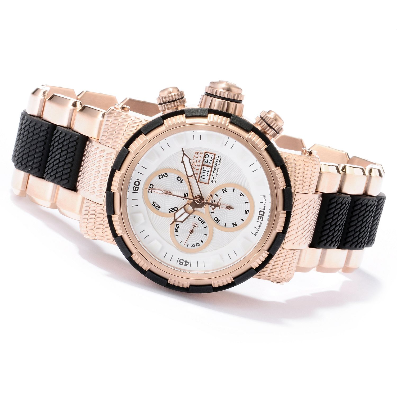 Invicta 12498 Men's Reserve Automatic Chronograph  Rose Tone Bracelet Watch