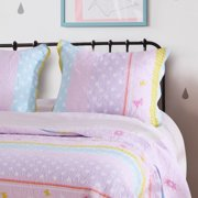 Global Trends Polka Dot Stripe Quilted Pillow Sham
