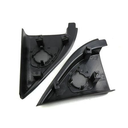 2 Pcs 6.5 x 5cm Mesh Black Car Tweeter Trumpet Dustproof Cover for Kia Forte - image 2 of 3