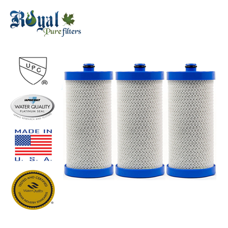 [3-Pack] Royal Pure Filters RPF-WF1CB Replacement Water Filter For Frigidaire WFCB, WF1CB, WF1CB-EFF, WF1CB-3, RFC2300A, WF-1CB, WF1-CB, WF1CB-EFF, RWF1030,RG100, (Ever Pure Water Filter)