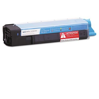Media Sciences MSOK5855CHC Remanufactured 43324403 (Type C8) High-Yield Toner, Cyan