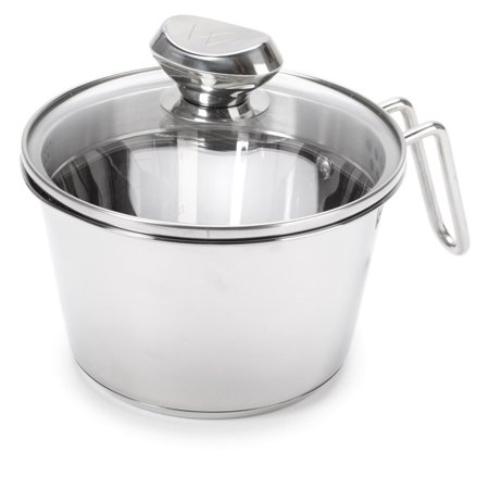 Wolfgang Puck Stainless Steel 1.5-Quart Cook and Stir w/Colander Lid (Wolfgang Puck 2 Qt)