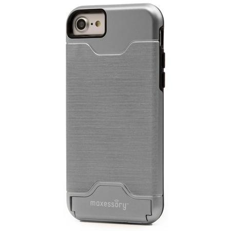 low priced 7abdb 75962 iPhone 7 Case, iPhone 8 (4.7 inch) Case, Maxessory Maestro Credit Card  Holder Shock-Proof Kickstand Dual-Layer Shield Hybrid Matte Slim Premium ...