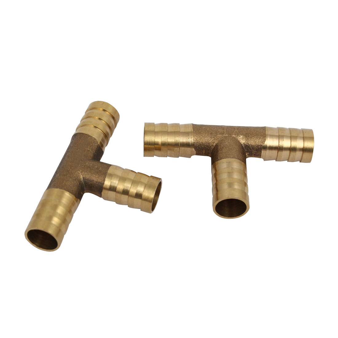 10mm Dia T Shaped 3 Way Hose Barb Fittings Pipe Tube Connecting Connectors 2pcs - image 3 of 3