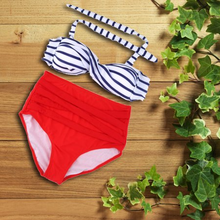 6fa31a9182 New Swimwear Bandage Bikini Promotional Sexy Retro Pinup Rockabilly Vintage  High Waist Bikini Swimsuit Swimwear S-XL