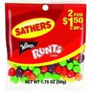Sathers Fruit Runts 12 pack (1.75oz per pack) (Pack of 6)
