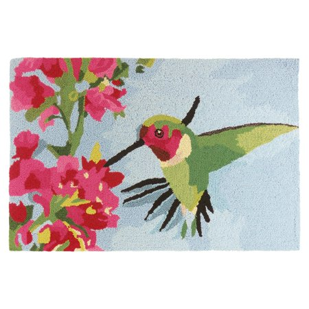 Homefires Hummingbird and Geraniums Indoor Doormat
