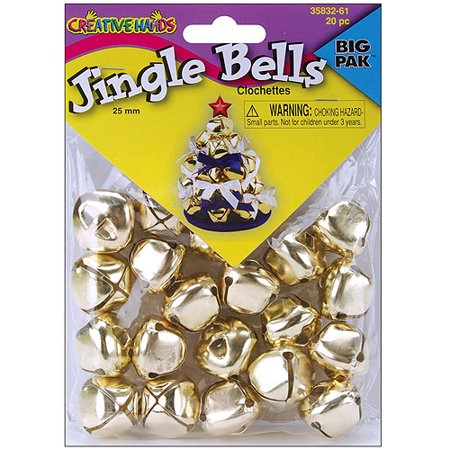 Creative Hands by Fibre-Craft - 20-Piece 25mm Gold Jingle Bells - Jingle Bells For Sale