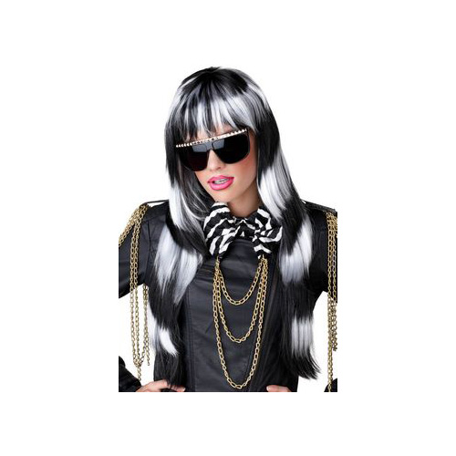 California Costume Collections Black & White Untamed Wig 70657CAL Black/White