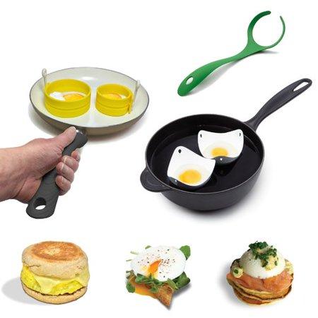 Fusionbrands 4 piece egg poacher set for Decor 4 egg poacher