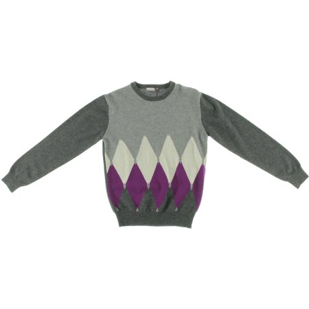 Ballantyne Girls Cashmere Argyle Pullover Sweater by
