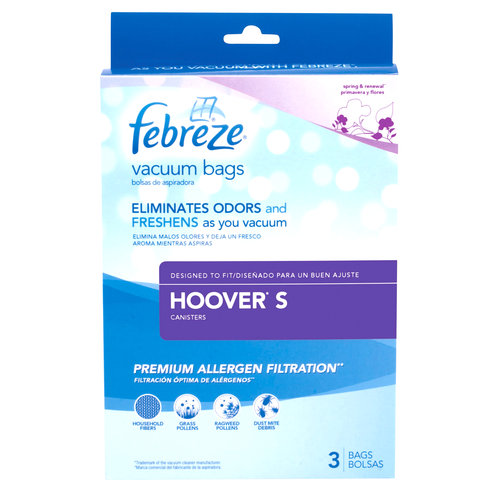Febreze Vacuum Bags, Hoover Style S, Pack of 3