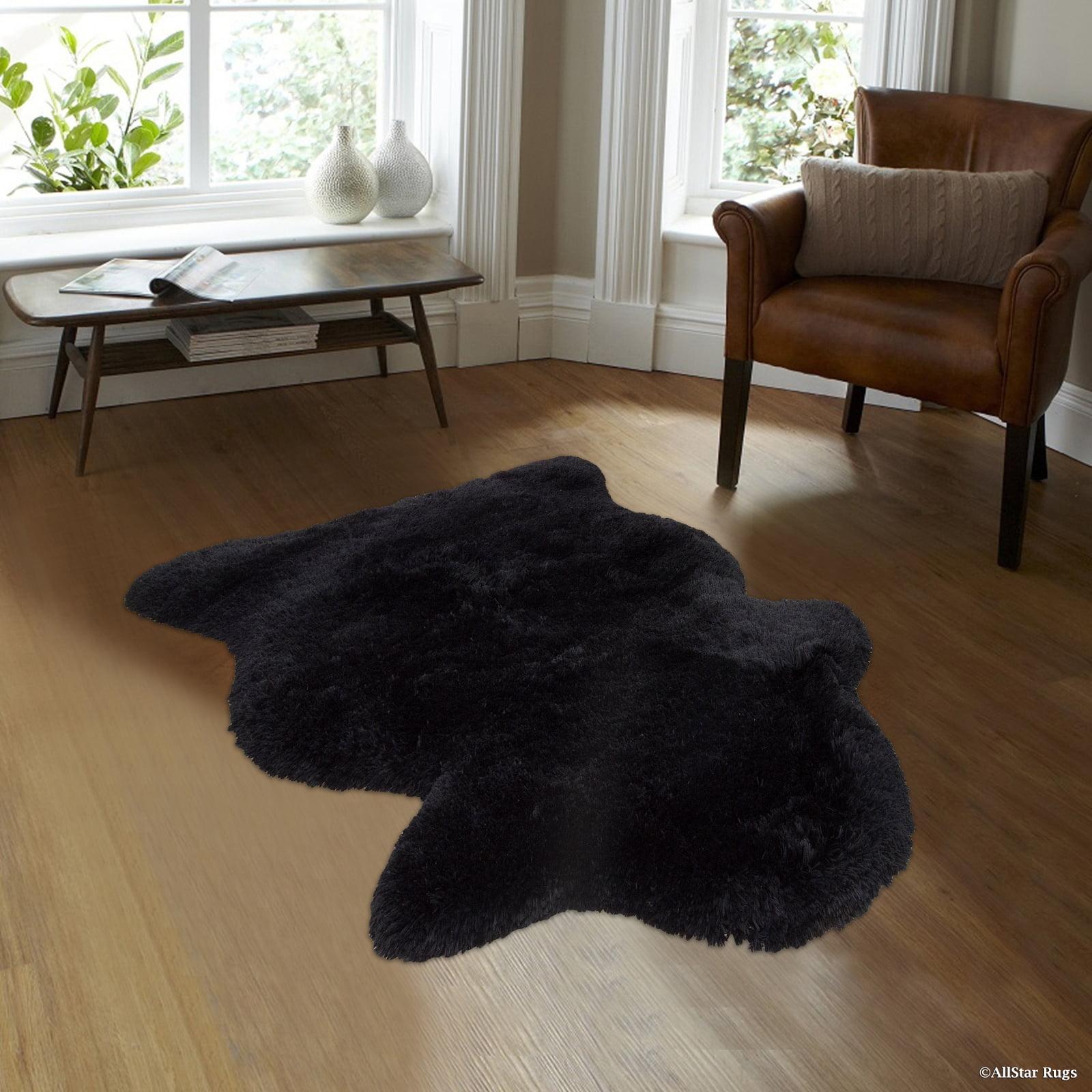 Allstar Black Rug, High Quality Faux Sheep / Polar Bear S...