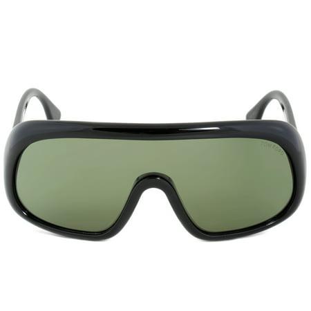 Tom Ford Sven Sunglasses FT0471 01N | Black Frame | Green Lens