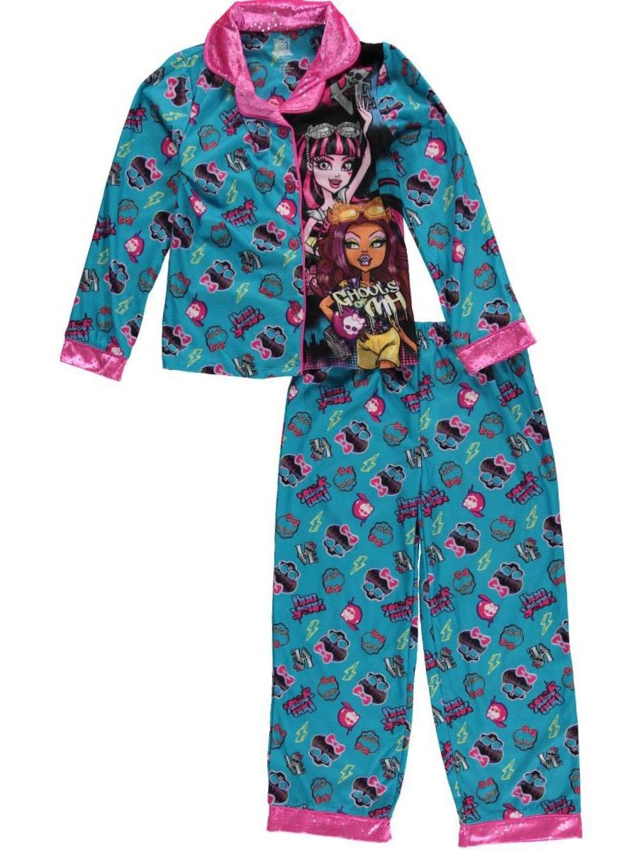 "Monster High Big Girls' ""Creepy Cool"" 2-Piece Pajamas (Sizes 7 - 16)"