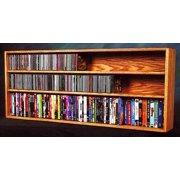 Wall Mount DVD Shelves (Honey Oak)