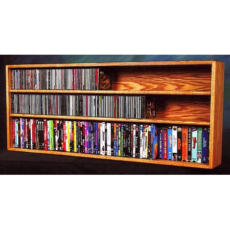 Wall Mount DVD Shelves (Honey Oak)