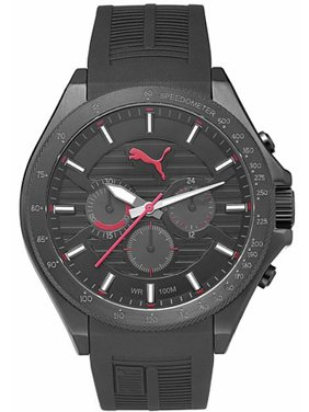 8c6bbdaa3c1e Product Image Men s Forward Black And Red Chronograph Silicone Watch  PU104021001. PUMA