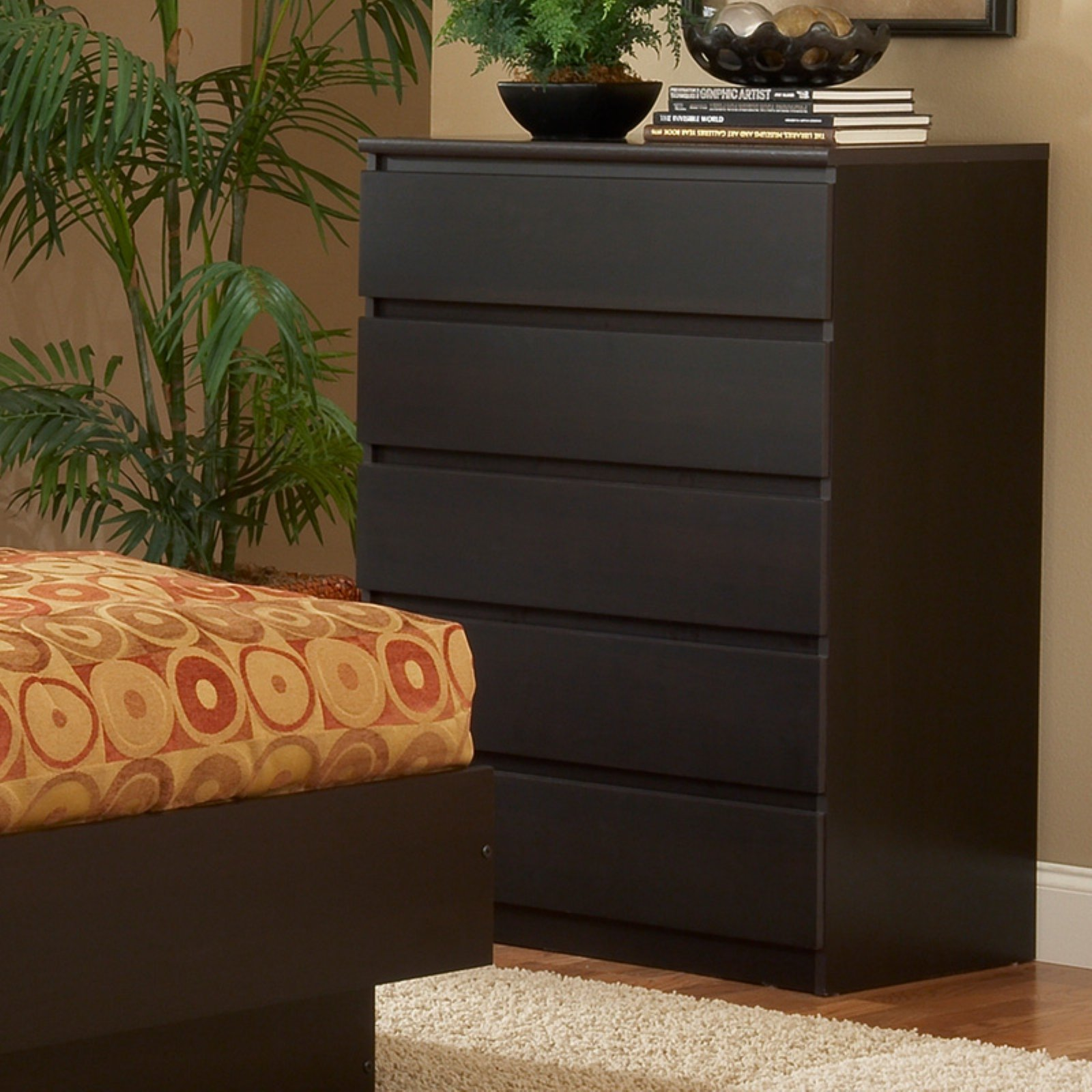 Tvilum Scottsdale 5 Drawer Dresser Walmartcom