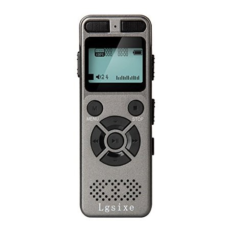 Lgsixe Digital Voice Recorder 8GB 1536Kbps Voice Recording device Record Double Microphone/Noise Cancelling/Voice Activated MP3 Digital Audio Player for Class, Lectures, (Best Device To Record Lectures)