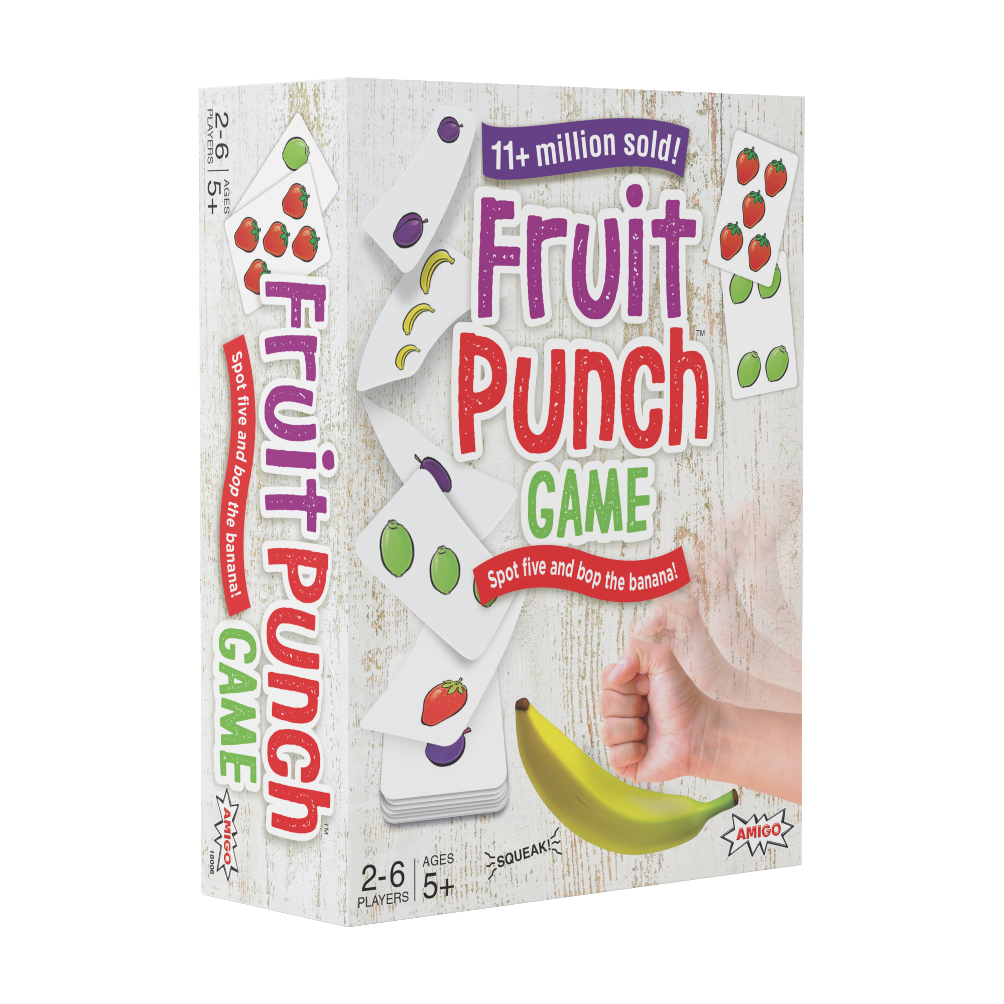 Fruit Punch Kids Card Game with a Squeaky Banana