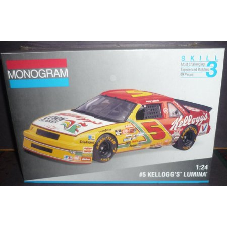 - #2974 Terry Labonte #5 Kelloggs Lumina 1/24 Scale Plastic Model Kit, Skill Level 3 ,For ages 12 and up By Monogram