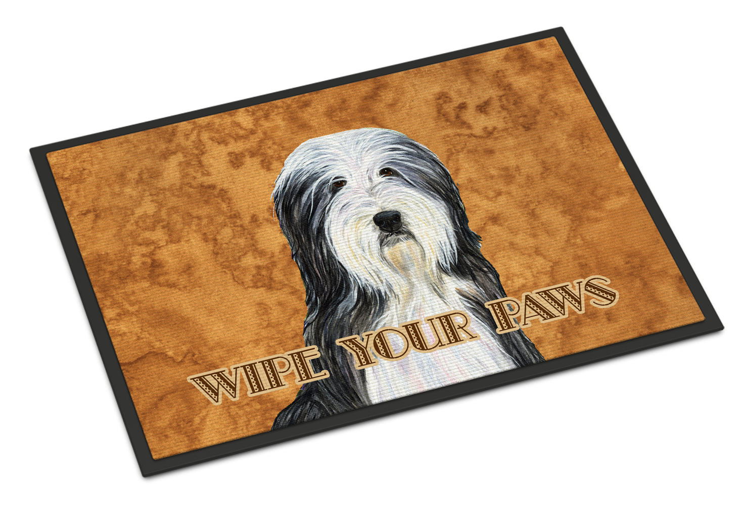 Bearded Collie Wipe your Paws Doormat by Caroline's Treasures