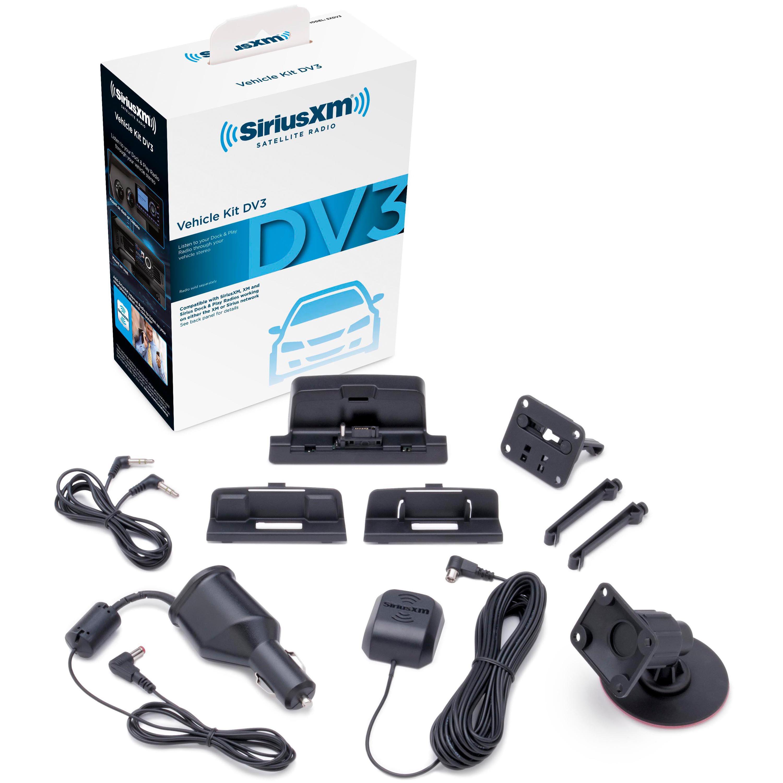Vehicle Satellite Radio Receiver Mounting Kit Sirius XM Vehicle Portable Dock