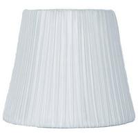 "Urbanest Box Pleat Faux Silk Chandelier Shade, Off White, 3x5x4.5"""