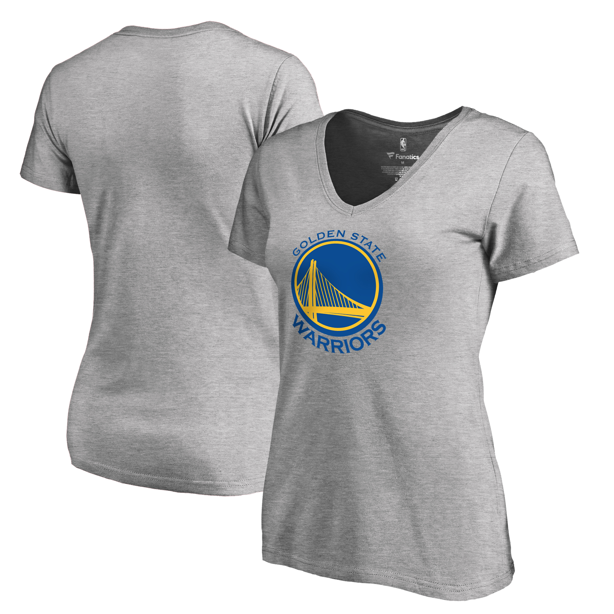 Golden State Warriors Fanatics Branded Women's Plus Sizes Team Primary Logo T-Shirt - Ash