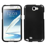 Insten Black Carbon Fiber Hard Snap On Case For Samsung Galaxy Note 2 II N7100