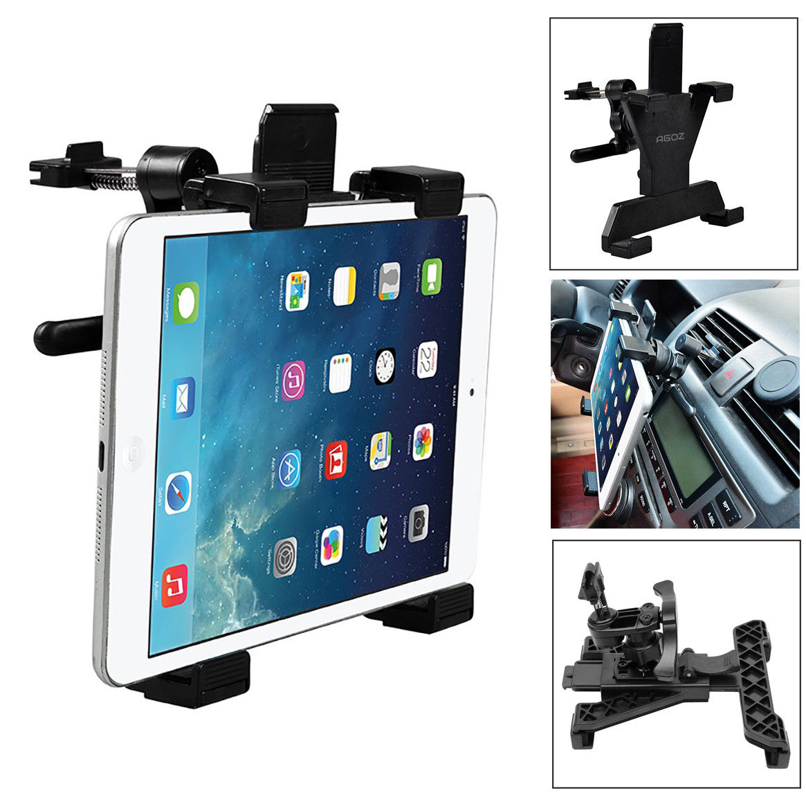 AGOZ Universal 360° Car Air Vent Mount Tablet Holder Stand Cradle