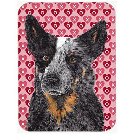 Caroline's Treasures Valentine Hearts Australian Cattle Dog Hearts Love and Valentine's Day Glass Cutting (Glasses Sale Australia)