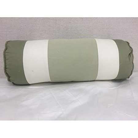 Bed Bath & Beyond Striped Bolster (Green, White), 18