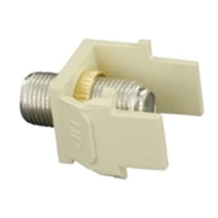 - Leviton 40731-BT Light Almond Quickport Nickel-Plated F-Type Bulkhead Snap-in Module