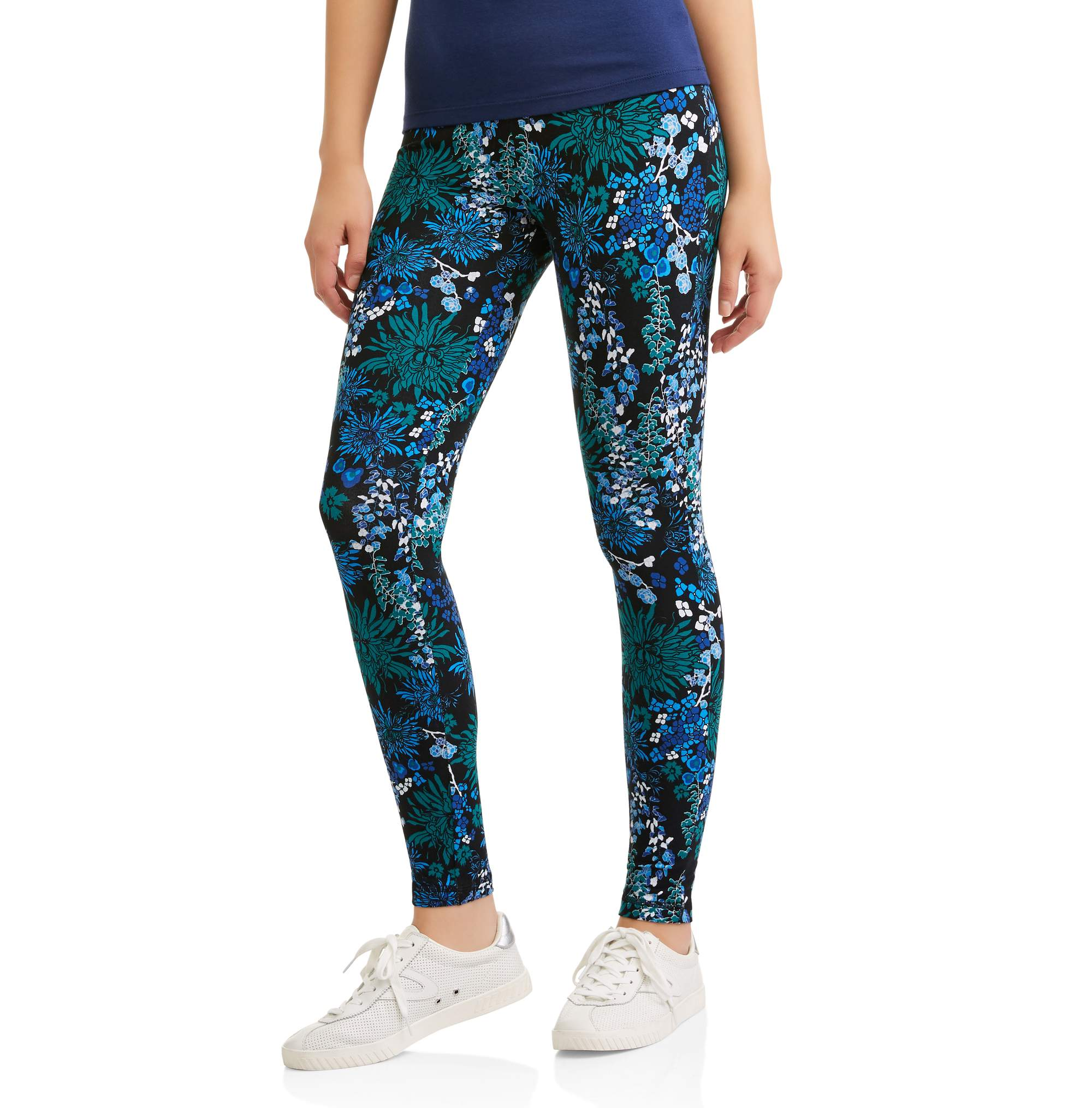 Danskin Now Women's Active Allover Floral Print Capri Legging